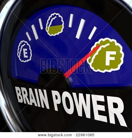 A vehicle type gauge measures your amount of creativity, intelligence, agility, and mental capacity for coming up with new ideas and attaining success poster