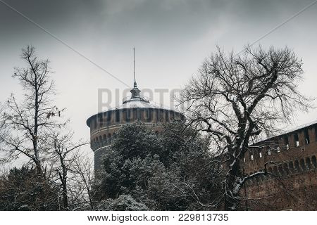 Sforza Castle, Italian: Castello Sforzesco, Is In Milan, Northern Italy. It Was Built In The 15th Ce