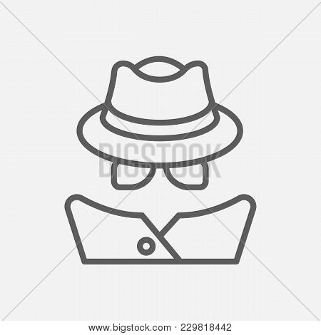 Detective Icon Line Symbol. Isolated  Illustration Of  Icon Sign Concept For Your Web Site Mobile Ap