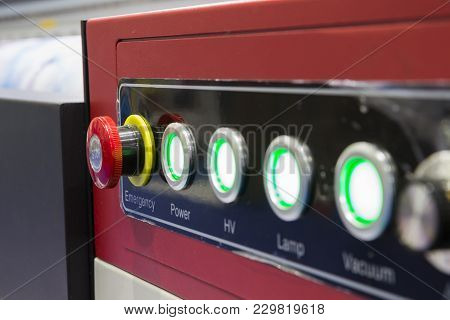 The Emergency Stop Button And Control Pannel