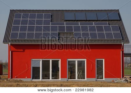 House with solar roof