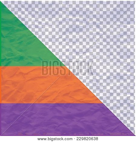 Compressed Paper - Isolated On A Transparent Background And On Color Samples - Art Creativity Vector