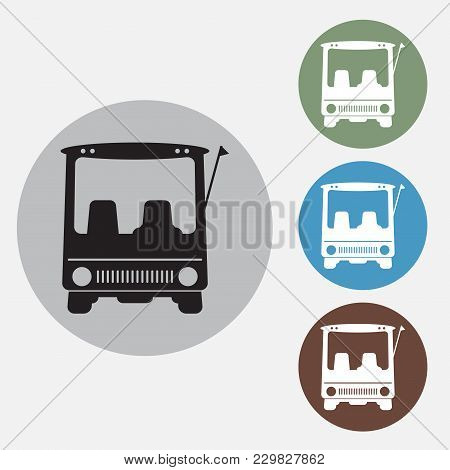 Front View Of Golf Cart Icon