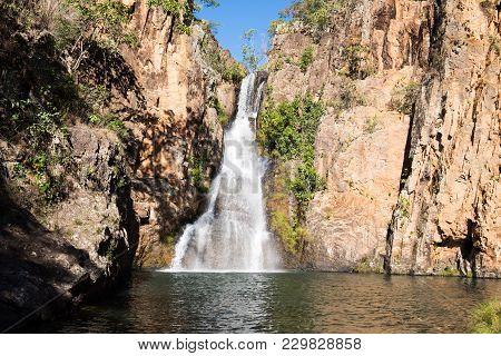 Beautiful Cachoeira Dos Macaquinhos In Chapada Dos Veadeiros, Goias, Brazil