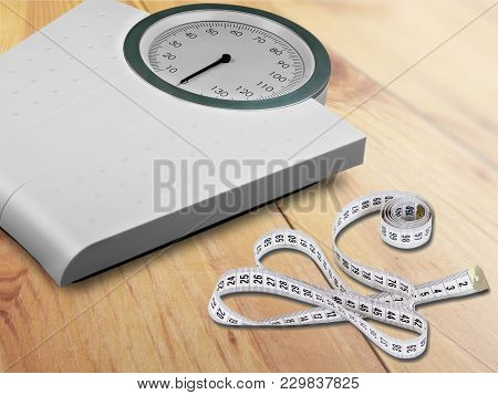 Measuring Tape Bathroom Scale Objects Background Number Female Health