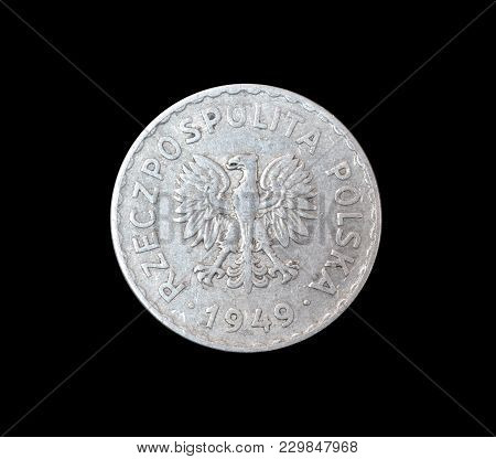 Obverse Of Vintage Coin Made By Poland 1949