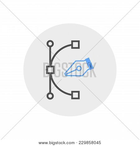 Pen Tool Vector Icon Isolated On The White Background.