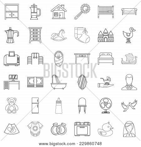 Founder Icons Set. Outline Set Of 36 Founder Vector Icons For Web Isolated On White Background