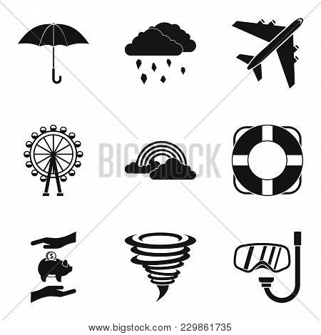 Bad Stay Icons Set. Simple Set Of 9 Bad Stay Vector Icons For Web Isolated On White Background
