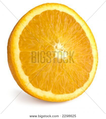 Isolated Orange Half