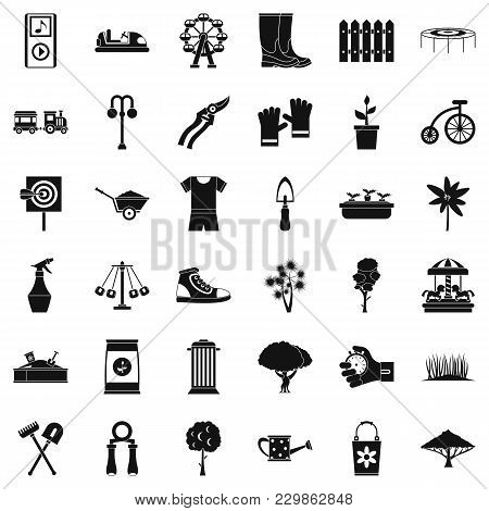 Community Garden Icons Set. Simple Set Of 36 Community Garden Vector Icons For Web Isolated On White