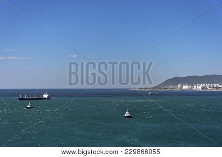 The Ships Are Anchored In The Bay