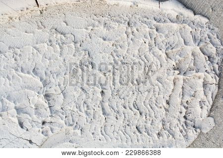 Pattens Formed On A Concrete Background