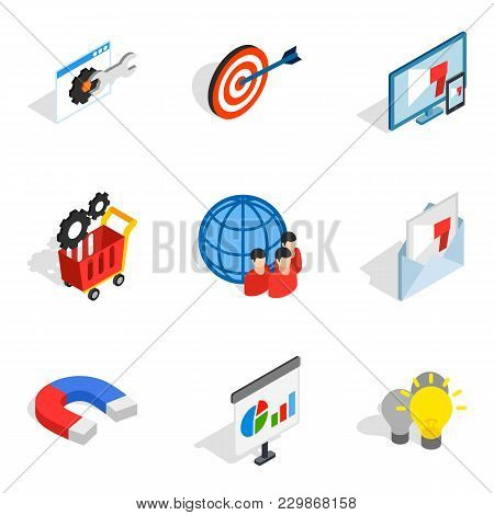 Operating Staff Icons Set. Isometric Set Of 9 Operating Staff Vector Icons For Web Isolated On White