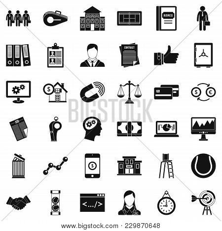 Partnership Icons Set. Simple Set Of 36 Partnership Vector Icons For Web Isolated On White Backgroun