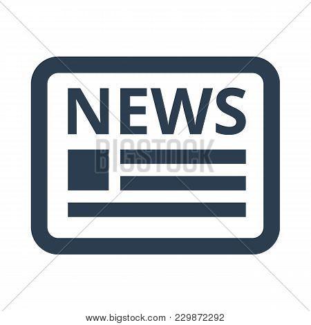 News Icon On White Background. Vector Illustration