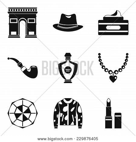 Tourist Voyage Icons Set. Simple Set Of 9 Tourist Voyage Vector Icons For Web Isolated On White Back