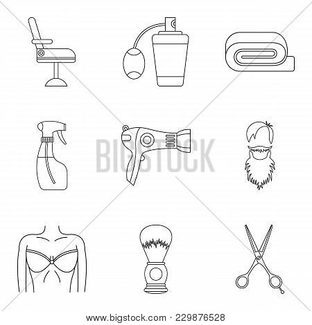 Accurate Icons Set. Outline Set Of 9 Accurate Vector Icons For Web Isolated On White Background