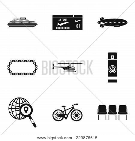 Expedition Icons Set. Simple Set Of 9 Expedition Vector Icons For Web Isolated On White Background