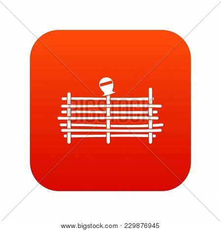 Palisade Icon Digital Red For Any Design Isolated On White Vector Illustration
