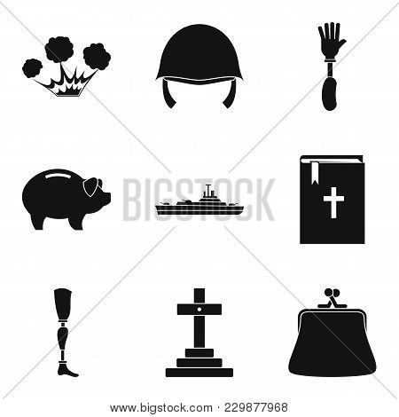 Assault Icons Set. Simple Set Of 9 Assault Vector Icons For Web Isolated On White Background