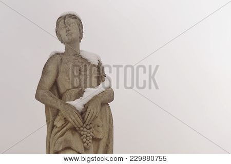 Milan, Lombardy, Italy, Statue At Giulio Cesare Square, Near The New Citylife Area