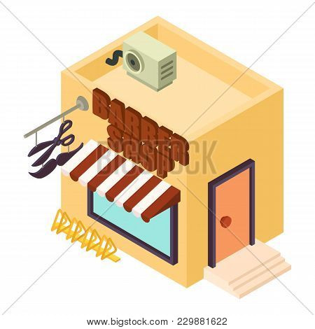 Barber Shop Icon. Isometric Illustration Of Barber Shop Vector Icon For Web