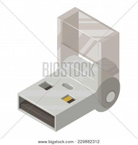 Usb Flash Drive Icon. Isometric Illustration Of Usb Flash Drive Vector Icon For Web