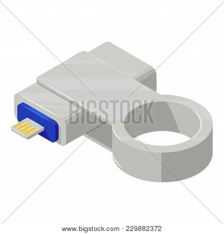 Key Connector Icon. Isometric Illustration Of Key Connector Vector Icon For Web