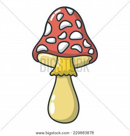 Poison Mushroom Icon. Cartoon Illustration Of Poison Mushroom Vector Icon For Web