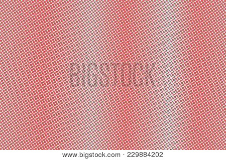 Blue And Red Dotted Halftone. Vertical Subtle Dotted Gradient. Half Tone Vector Background. Abstract