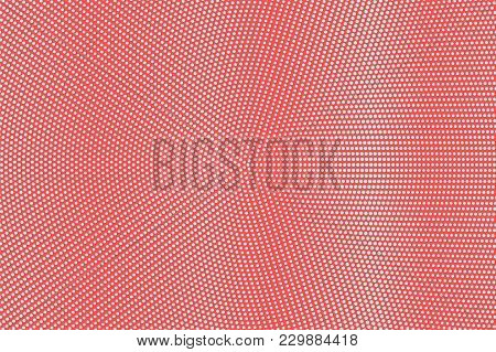 Blue Red Dotted Halftone. Micro Dot Radial Dotted Gradient. Half Tone Vector Background. Abstract Fu