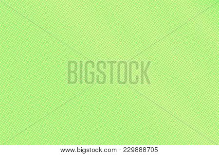 Green Yellow Dotted Halftone. Vertical Sparse Dotted Gradient. Half Tone Vector Background. Abstract