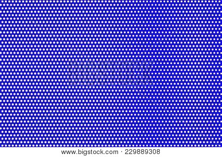 Blue Yellow Dotted Halftone. Regular Sparse Dotted Gradient. Half Tone Vector Background. Artificial