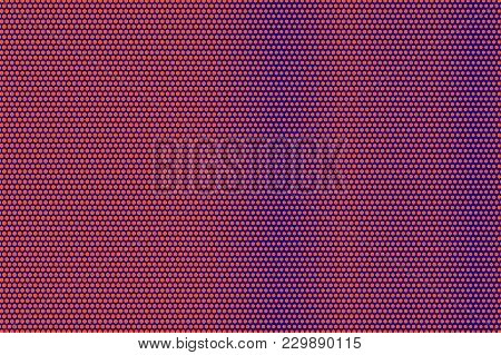 Blue Orange Dotted Halftone. Vertical Smooth Dotted Gradient. Half Tone Vector Background. Artificia