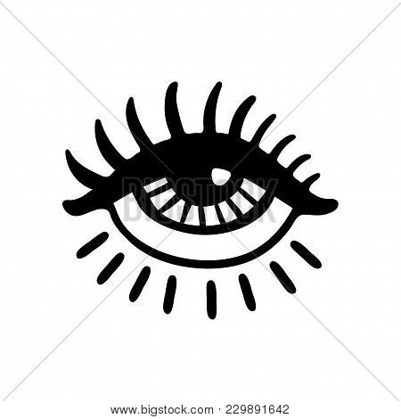 Hand Drawn Eye Vector Photo Free Trial