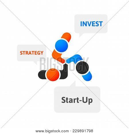 Handshake Abstract Logo Vector Design Template, Business Creative Concept, Cooperation Symbol Icon,