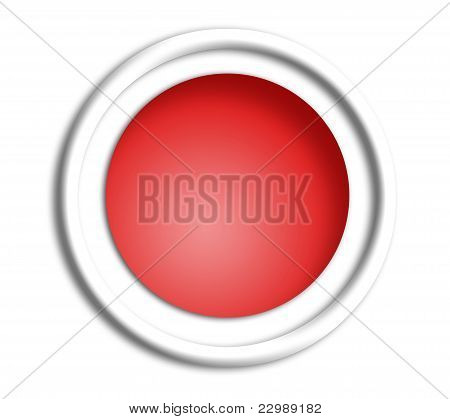 Japan button shield on white background