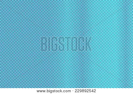 Blue Violet Dotted Halftone. Vertical Subtle Dotted Gradient. Half Tone Vector Background. Artificia