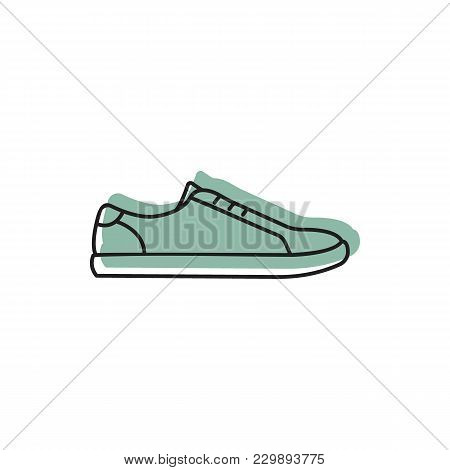 Sneaker Icon. Doodle Illustration Of Sneaker Vector Icon For Web And Advertising