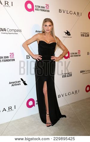 LOS ANGELES - MAR 4:  Charlotte McKinney at the 2018 Elton John AIDS Foundation Oscar Viewing Party at the West Hollywood Park on March 4, 2018 in West Hollywood, CA