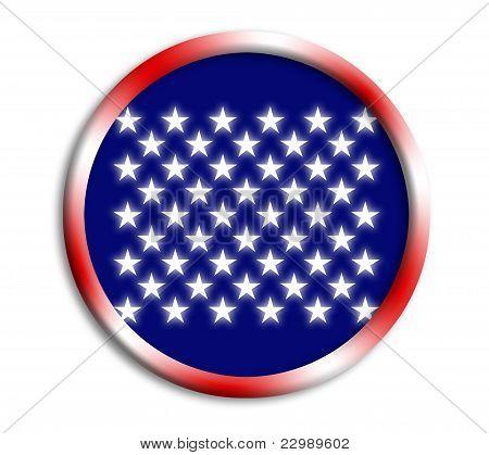USA button shield on white background
