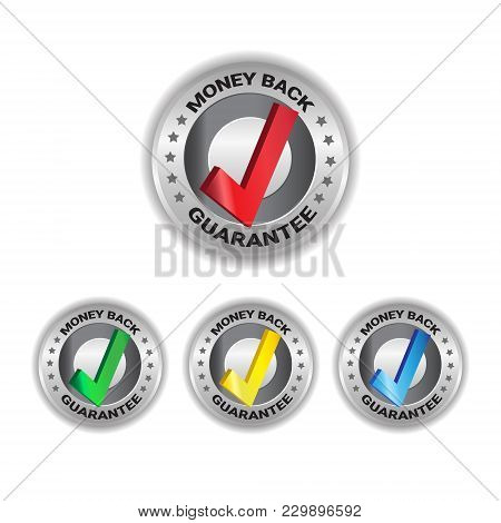 Money Back Tags Set Sign Guarantee Badge Template Labels Isolated Collection Vector Illustration