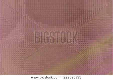 Yellow Pink Dotted Halftone. Regular Subtle Dotted Gradient. Half Tone Vector Background. Artificial