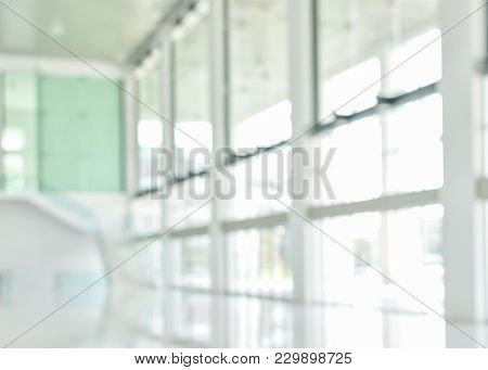 Business Building Blur Background Office Lobby Reception Hall Interior Or Empty Indoor Foyer Room Wi