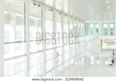 Office Building Blur Background Business Lobby Reception Hall Interior Or Empty Indoor Foyer Meeting