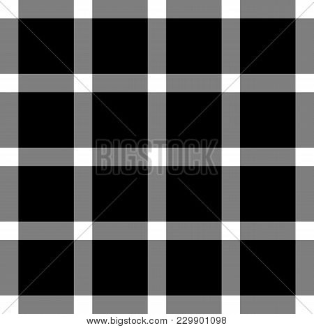 Scottish Black And White Cage, Black And White Celtic. Background In A Cage. Vector Illustration