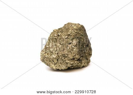 Arsenopyrite - Iron Arsenic Sulfide Mineral Isolated On White Background