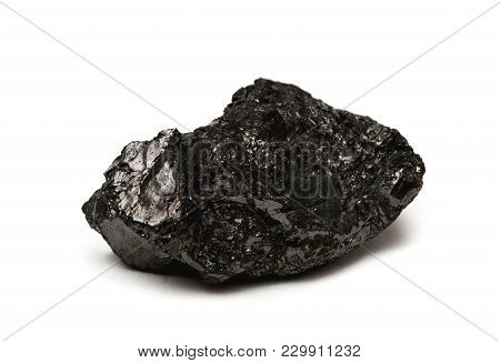 Anthracite - Often Referred To As Hard Coal Isolated On White Background