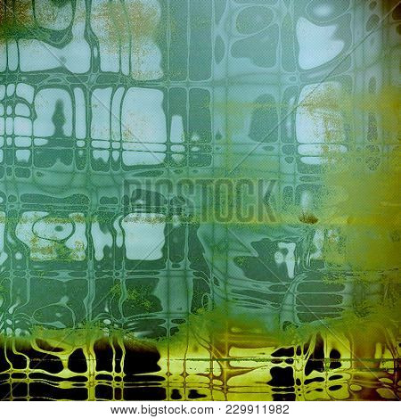 Antique frame with grunge background. With different color patterns
